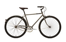 Creme Caferacer Solo Hollandse Fiets Heren 3-Speed grijs